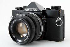 Olympus OM-2 Black 35mm SLR Film Camera 50mm F1.8 Lens Excellent from JAPAN
