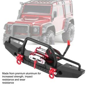 Al Alloy Front Bumper with Winch for Traxxas TRX-4 RC Car Crawler Upgrade❤FF