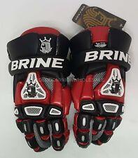 "New Brine King Iv Red & Black Medium 12"" Lacrosse Gloves"