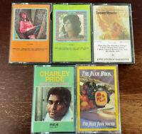 Audio Cassette Lot of 5 - DONNA FARGO, TAMMY WYNETTE, CHARLEY PRIDE, JAMM BROS.