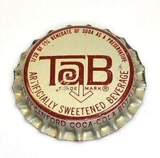 Vintage coca-cola TAB tapita estados unidos soda bottle cap 1960er junta corcho