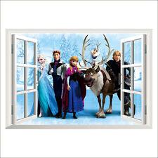 3D Removable Elsa/ Anna Disney Frozen Princess Wall Sticker Art Mural Home Decor