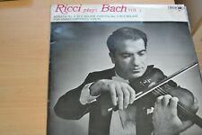 RUGGIERO RICCI  PLAYS BACH VOLUME 3  SONATA AND PARTITA  LP   MCA RECORDS MUCS22