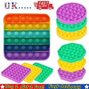 Pop it Square Fidget Toy Push Bubble Stress relief Kids tiktok Family games