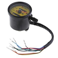 60mm Yellow Face Mechanical Motorcycle ATV Speedometer Gauge with Indicator