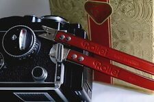(Wine Red) Rolleiflex Fit Scissor Strap for Rolleiflex 3.5f, 2.8f, T - BRAND NEW