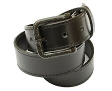 "Metal free Leather belt w/ Carbon Fiber Buckle: Nickel Free: U.S. MADE: 36""-40"""