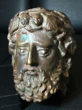 Rare very old Greek bronze art head Greco bronze
