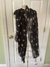 Coach Feather Scarf New Black Modal Cashmere Rare New
