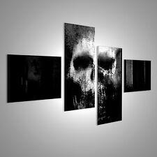 Totenkopf Abstrakt Bild auf Leinwand BOE-4LP