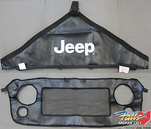 2007-2018 Jeep Wrangler JK Front End Hood Grille Cover Bra Kit Mopar OEM