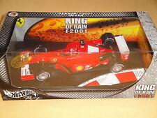 M. Schumacher Ferrari f2001 KING OF RAIN Pioggia GOMME RAIN TIRE OVP 1:18