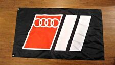 AUDI SPORT FLAG BANNER 3X5FT URS4 URS6 V8 COUPE QUATTRO 5000 COUPE GT S1 S2 S4 S