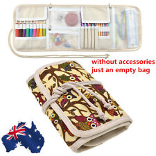 AU! Pouch Knitting Crochet Case Needle Hook Holder Storage Organizer Zipper Bag