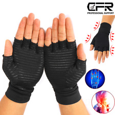 Copper Arthritis Compression Fit Gloves Hand Support Arthritic Joint Pain Relief
