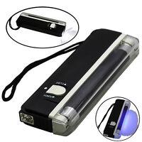 4W Mini Portable UV Ultra Violet Black Light Lamp Torch BANK NOTES Check LED 1*