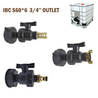 IBC S60X6 3/4'' water tank outlet fitting/connector/adapter 25mm tap outlets