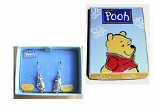 GIFT BOXED DISNEY - WINNIE THE POOH - STERLING SILVER EARRINGS - QUALITY & CUTE!