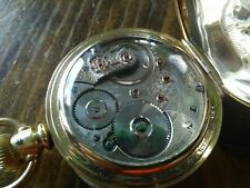 Waltham 18s Pocket Watch / Vanguard 23 Jewels Diamond End Stone
