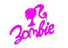 Zombie Barbie Sticker / Decal Pink - Car Cute Vinyl 185mm