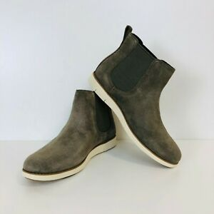 Timberland Women's Lakeville Chelsea Grey Suede Leather Boots Shoes UK 7 EUR 40