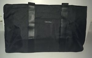 CALVIN KLEIN PARFUMS WEEKEND TRAVEL GYM BAG, BLACK, NEW