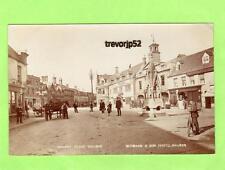 Market Place Bourne Bull Pub Horse & Cart RP pc 1909 Redshaw & Son Ref A964