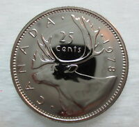 1978 CANADA 25 CENTS PROOF-LIKE QUARTER COIN