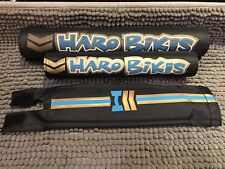 HARO Pad Set BMX freestyle for Top Tube Handlebar Neck black blue CUS-HA7