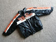 Harley Davidson Toddler Boys Jacket Coat Zip Up Orange Black Size 5 Patches