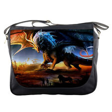 Dragon Art Fantasy Personalized Messenger Bag Laptop Travel Sling School Bags