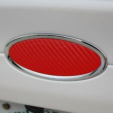 2013-2019 Ford Fusion Carbon Fiber Oval Decal Emblem Inserts (Red)