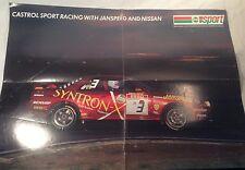Collectable Kieth Odor Nissan Skyline 1990 British Saloon Car Champion Poster