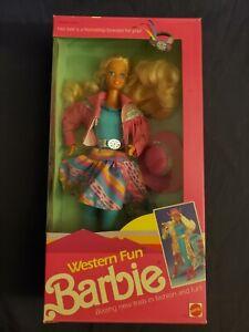 1989 Mattel Western Fun Barbie #9932 Please read