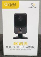 Brand New Q-See 4K Wi-Fi Cube Security Camera (Black) Model# Qcw4K1Mcb
