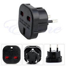 2 Pin UK to EU Euro Europe AC Travel Power Adaptor Plug Socket Adapter Convertor