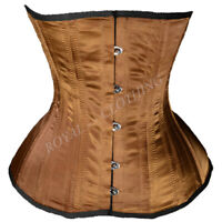 Steel Boned Cotton Waist Cincher Black Corset J-7975