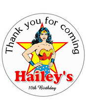 40 WONDER WOMAN BIRTHDAY PARTY FAVORS STICKERS FOR YOUR PARTY FAVORS