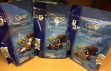 CHOCEUR DARK CHOCOLATE COVERED SUPERBERRIES BLUEBERRY ACAI 3 PACKS EACH 7 0Z