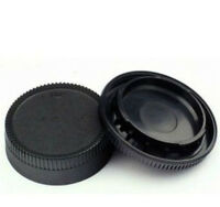Black Body Front + Rear Lens Cap Cover For Nikon AF AF-S Lens DSLR SLR Camera C