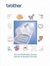 BROTHER PE-150-V PE-150 Embroidery Sewing Owners Manual Reprinted Copy in Color