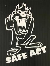"Taz Devil Cartoon /""No Fear/"" Window Decal-Sticker tz101"