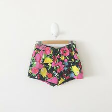 Alannah Hill Floral High Waisted Cotton Shorts {Size 10}