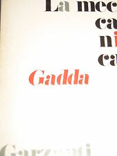 CARLO EMILIO GADDA - LA MECCANICA 1974 PRIMA EDIZIONE