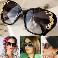 New Fashion Vintage Retro Shades Women Designer Oversized Sunglasses Black Frame