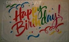 3'x5' Happy Birthday Flag Outdoor Banner Party Celebration Cake Fun Surprise 3x5