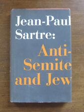 JEAN-PAUL SARTRE Anti-Semite and Jew 1st/1st HCDJ 1948 Schocken existentialism