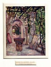 Anacapri: nella Villa San Michele. Capri. Golfo di Napoli. Stampa Antica. 1904