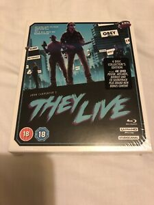 JOHN CARPENTER'S THEY LIVE BLU-RAY 4 DISC COLLECTOR'S 4K LIMITED EDITION BOX SET