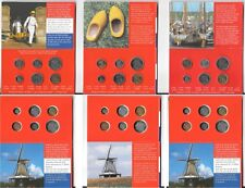 NETHERLANDS 3x MINI COINSETS 10 CENT-5 GULDEN 1998-1999-2000 in Folders B6